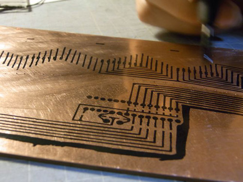 耐水インキでパターンを描画